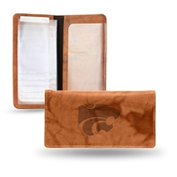 Kansas State Wildcats NCAA Embossed Checkbook Holder (Pecan Cowhide)