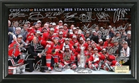 Chicago Blackhawks 2015 Stanley Cup Champions Signature Rink