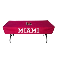 Miami Ohio Redhawks NCAA Ultimate 6 Foot Table Cover