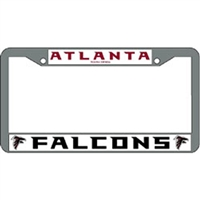Atlanta Falcons NFL Chrome License Plate Frame