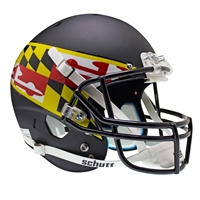 Maryland Terps NCAA Replica Air XP Full Size Helmet (Alternate Black 2)