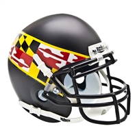 Maryland Terps NCAA Authentic Mini 1/4 Size Helmet (Alternate Black 2)