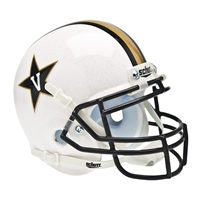 Vanderbilt Commodores NCAA Authentic Mini 1/4 Size Helmet (Alternate White 1)