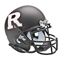 Rutgers Scarlet Knights NCAA Authentic Mini 1/4 Size Helmet (Alternate Black w/ White R 3)