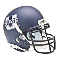 Utah State Aggies NCAA Authentic Mini 1/4 Size Helmet (Alternate Navy 1)
