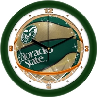 "Colorado State Rams Slam Dunk 12"" Wall Clock"