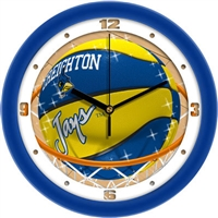 "Creighton Blue Jays Slam Dunk 12"" Wall Clock"