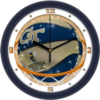 "Georgia Tech Yellow Jackets Slam Dunk 12"" Wall Clock"