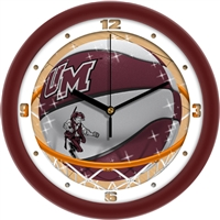 "Massachusetts Minutemen Slam Dunk 12"" Wall Clock"