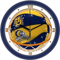 "Marquette Golden Eagles Slam Dunk 12"" Wall Clock"