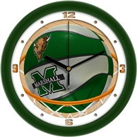 "Marshall Thundering Herd Slam Dunk 12"" Wall Clock"