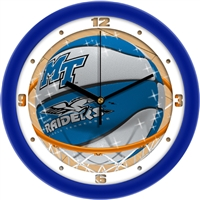 "Middle Tennessee State (MTSU) Blue Raiders Slam Dunk 12"" Wall Clock"