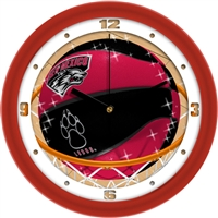 "New Mexico (UNM) Lobos Slam Dunk 12"" Wall Clock"