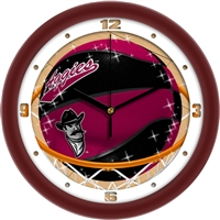 "New Mexico State Aggies Slam Dunk 12"" Wall Clock"