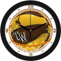 "Wyoming Cowboys Slam Dunk 12"" Wall Clock"