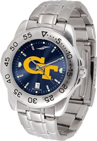 Georgia Tech Yellow Jackets Sport Steel Watch - AnoChrome Dial
