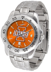 Illinois Fighting Illini Sport Steel Watch - AnoChrome Dial