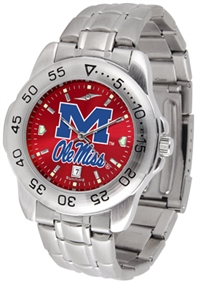 Ole Miss Rebels Sport Steel Watch - AnoChrome Dial