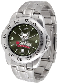 South Dakota Coyotes Sport Steel Watch - AnoChrome Dial