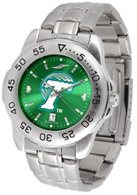 Tulane Green Wave Sport Steel Watch - AnoChrome Dial