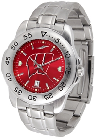 Wisconsin Badgers Sport Steel Watch - AnoChrome Dial