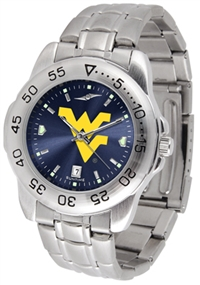 West Virginia Mountaineers Sport Steel Watch - AnoChrome Dial