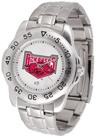 Arkansas Razorbacks Sport Steel Watch