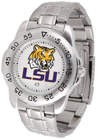 Louisiana State LSU Tigers Sport Steel Watch