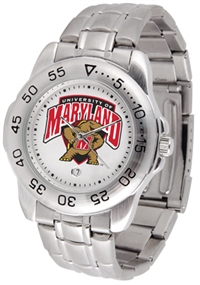 Maryland Terrapins Sport Steel Watch