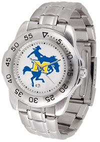 McNeese State Cowboys Sport Steel Watch
