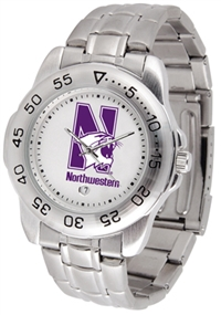 Northwestern Wildcats Sport Steel Watch