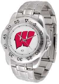 Wisconsin Badgers Sport Steel Watch