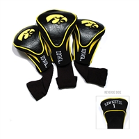 Iowa Hawkeyes NCAA 3 Pack Contour Fit Headcover