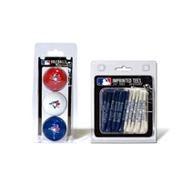 Toronto Blue Jays MLB 3 Ball Pack and 50 Tee Pack