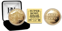 Highland Mint 24kt Gold Super Bowl XL Flip Coin