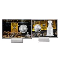 Boston Bruins 2011 Stanley Cup Banner Raising Silver Coin Card