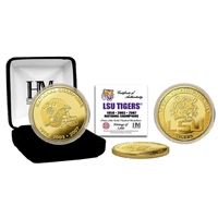 LSU 3-Time National Champs Gold Coin