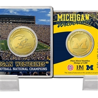 University of Michigan in11-Time National Championsin Bronze Coin Card