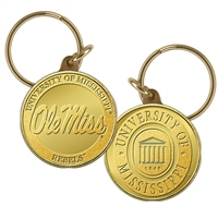University of Mississippi Bronze Coin Keychain