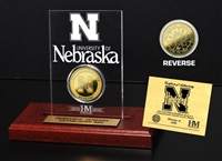 University of Nebraska 24KT Gold Coin Etched Acrylic