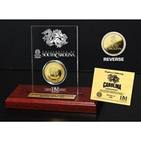 University of South Carolina 24KT Gold Coin Etched Acrylic