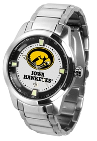 Iowa Hawkeyes Titan Watch - Stainless Steel Band