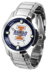 Illinois Fighting Illini Titan Watch - Stainless Steel Band