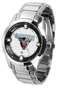 Maine Black Bears Titan Watch - Stainless Steel Band