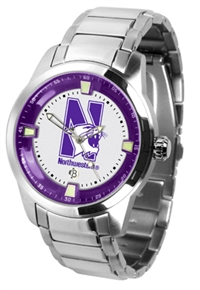 Northwestern Wildcats Titan Watch - Stainless Steel Band