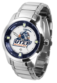 Texas El Paso UTEP Miners Titan Watch - Stainless Steel Band