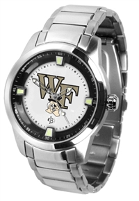 Wake Forest Demon Deacons Titan Watch - Stainless Steel Band