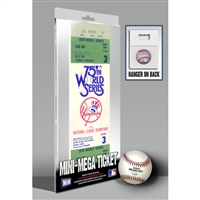 1978 World Series Mini-Mega Ticket - New York Yankees