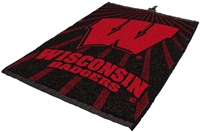 Wisconsin Badgers Jacquard Golf Towel