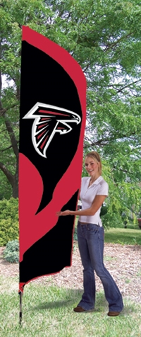 Atlanta Falcons NFL Tall Team Flag with Pole